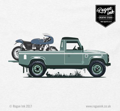 Land Rover Defender LWB Pickup Triumph