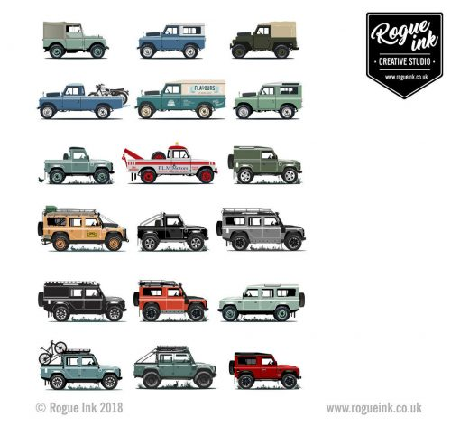 Land Rover Defender Series 1, 2, 90, 110 V2