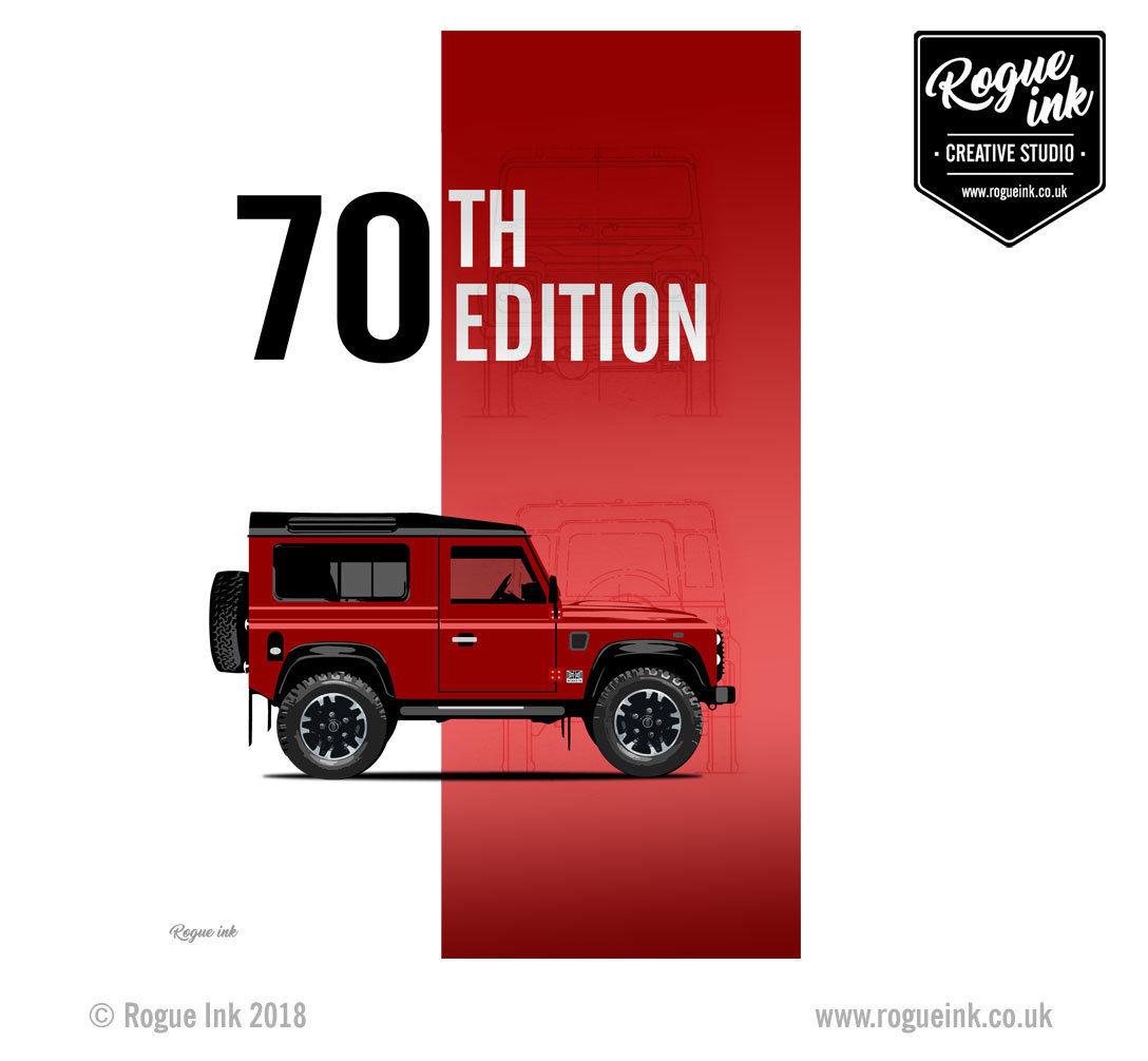 Defender 90 70th Edition V8